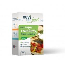 Mes super crackers thym et basilic Nuviline !