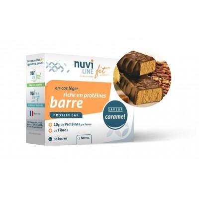Barre caramel riche en protéine
