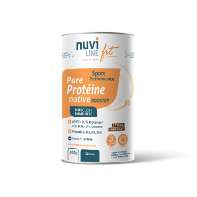 Protéine native whey booster saveur chocolat nuviline