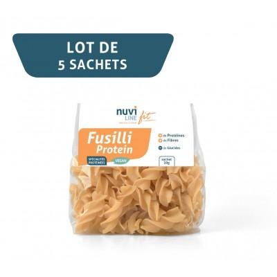 Spécialités protéinées Fusilli vegan - lot de 5 sachets de 30 g