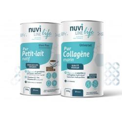 Collagène marin, protéine de lactosérum natives, vitamine D3 B9 et zinc, protection et immunité