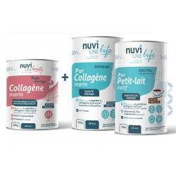 Pack Trio Protect Beauté collagène marin acide hyaluronique petit-lait