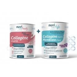 Pack Duo Repair collagène marin acide hyaluronique membrane d'oeuf articulations peau nuviline