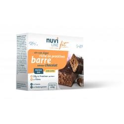 Barre chocolat riche en protéine