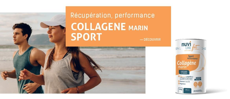 Collagène marin avec magnésium et vitamine C, sport et performance