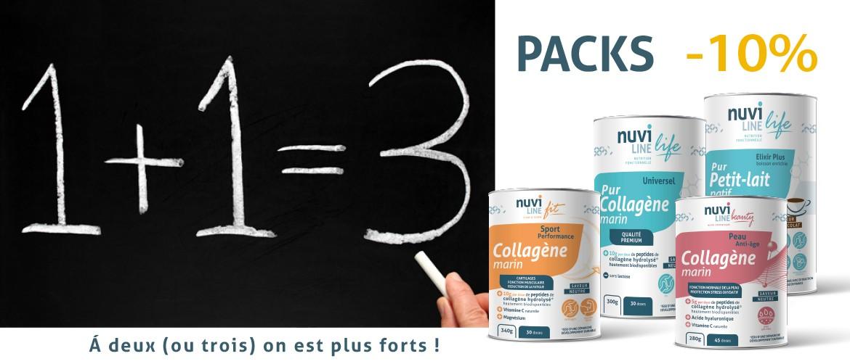 Pack Duo Trio collagène marin petit-lait tous nuviline